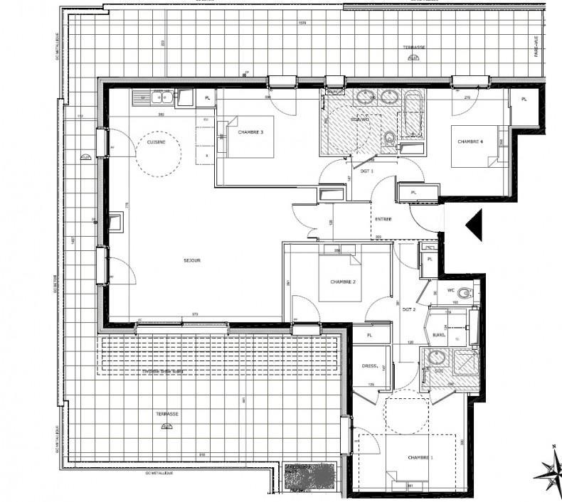 Vendu Centre bel appartement neuf T5 grande terrasse
